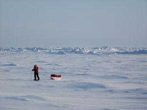 z skiing the arctic ocean